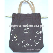 foldable handled cotton shopping bag