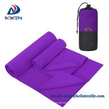 Fábrica de secado rápido de yoga toalla de microfibra de yoga