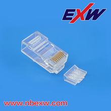 Transparent 8P8C Plug Cat6