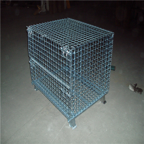 Floding metal storage container