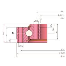 Tipo de luz Rollix Ungeared Bola de contato de quatro pontos Rolamento de rotação 33 0541 01