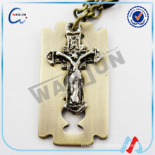 china supplier custom shape christian dog tag