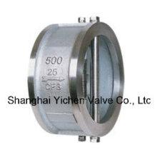 Válvula de retención de acero inoxidable con oblea doble cargada en resorte (H76)