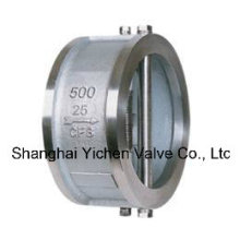 Spring Loaded Dual Plate Wafer Stainless Steel Check Valve (H76)