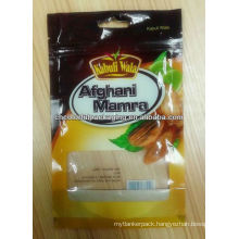 Dry Fruits ziplock Packaging Bag/bag with see through window/dried food packaging bag