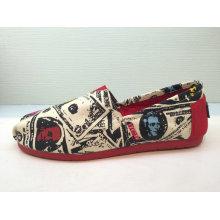 Art und Weise druckte Frauen / Männer beiläufige Segeltuch-Schuhe