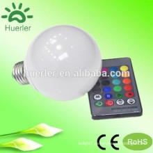 10w e27 cambio de color rgb llevó bulbo de color cambiando la bombilla LED rgb llevado bombilla