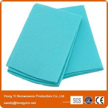Tissu vert de tissu non-tissé, chiffon de nettoyage de cuisine