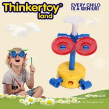 Girls Park plástico brinquedo interlocking jardim robô para crianças