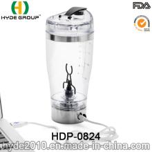Bouteille électrique portative de dispositif trembleur de vortex de 450ml, bouteille de protéine électrique en plastique sans BPA (HDP-0824)