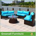 Полукруглый ротанговый наружный секционный садовый плетеная мебель