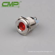 Lámpara de señal impermeable IP67 16mm 24V LED