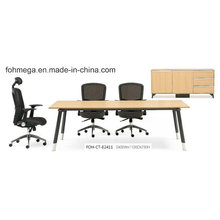 China Modern Simple Design Office Meeting Table with Metal Legs