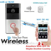 HD IP video de la puerta del teléfono de la sensibilidad inalámbrica Editable PIR Monitor de larga duración de la batería Wifi SIP teléfono de la puerta