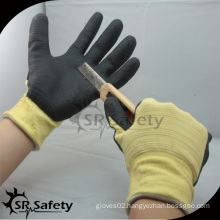 SRSAFETY U3 liner coated aramid fiber gloves cut resistant