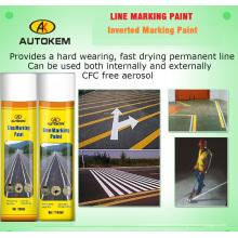 Краска для нанесения аэрозольной маркировки, краска для разметки дорог, маркер линии 750 мл