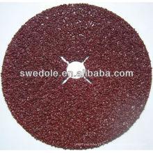 Discos de fibra de polimento de lixamento de óxido de alumínio para moagem de metal e madeira