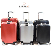 Hot Sell 8 Wheels Aluminum Frame PC Hard Side Suitcase