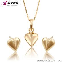 Ensemble élégant de bijoux en imitation plaqué or 18k en forme de coeur -63741