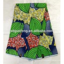 Nouveau design 100% coton africain ciré tissu imprimé 24 * 24 72 * 60