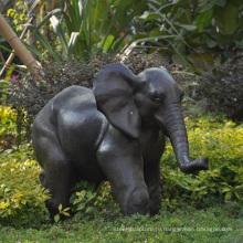 металлический сад слон-деко напольная большая статуя бронзовая скульптура для продажи