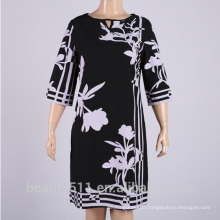 Hot style summer size sleeve-printed chiffon dress PS07
