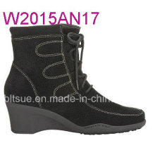 Suded Leather Upper High Sole Dress Boots for Girls