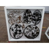 wrought iron ornaments fencing