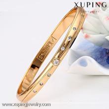 51197 brazaletes de piedra de lujo de las muchachas del diseño simple de Xuping con el oro 18K plateado