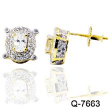 Jóias de prata novas dos brincos da forma do projeto 925 (Q-7663. JPG)