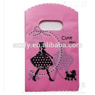 Saco de plástico personalizado com logotipo impressão