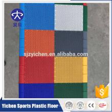 O uso exterior e o tratamento de superfície simples da cor bloqueiam a telha de assoalho exterior da corte de tênis