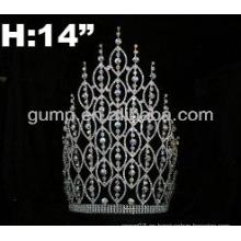 Corona de encargo de la tiara del rhinestone