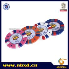 15g de puce de poker en 3 couleurs avec autocollant