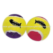 New Hot, Pet Tennis Rubber Dog and Cat Chews Bounce Toy Ball, Various Colors and Logos are Available