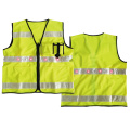Traffic warning vest with LED