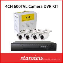 Baratos 4 canales de CCTV de seguridad de la cámara DVR Systems Waterproof DVR Kit