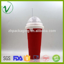 PCTG food grade empty cylinder drinking water plastic food container thermo
