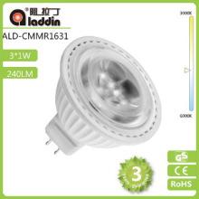 Epistar 3W ceramic small indoor led spotlights mr16 e27 gu5.3 AC/DC220