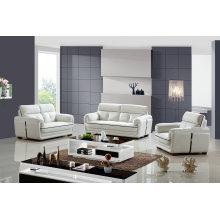 White Modern Design China Genuine Leather Sofa (983)