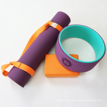 Exercise Competitive Price High Density Anti-tear Tpe Custom Pink Yogamat with Carry Strap