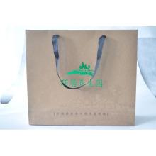 Saco de papel impresso Kraft para vestuário / embalagem de sapatos