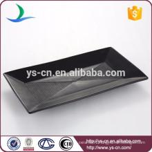 Stoneware handmade restaurant black food plate