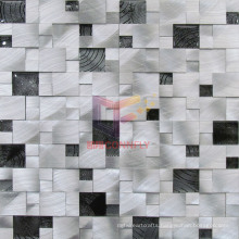 Silver Aluminium Alloy Close Paved Mosaic Tiles (CFA49)