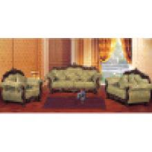 Canapé en tissu / Canapé en bois avec table d'appoint (929G)