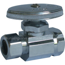Iron Pipe Inlet & Compression Outlet Straight Stop Valve (K06)