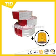blanco 6 '' y rojo '' punto c2, cinta reflectante