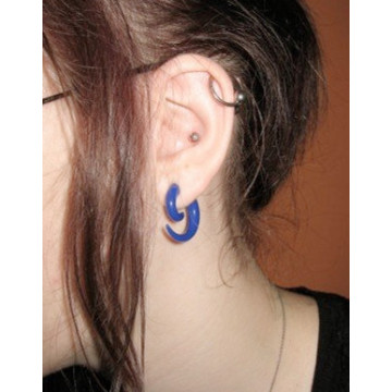 Colored Acrylic Spiral Ear Gauges Punk Earring