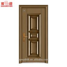 Puertas y marcos de acero residenciales modernos baratos de la puerta del hierro labrado Puertas de acero
