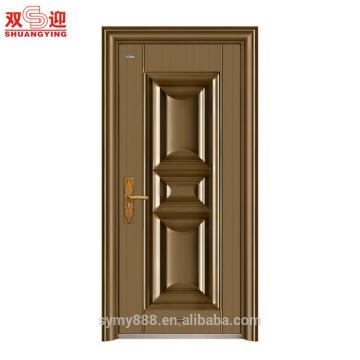 Portes en acier résidentielles modernes en fer forgé à bas prix et portes en acier de cadres